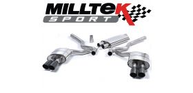 Milltek Sport - Ford Mustang 2.3 Ecoboost (Fastback) 2015 on Cat Back Exhaust System Resonated Quad SSXFD181