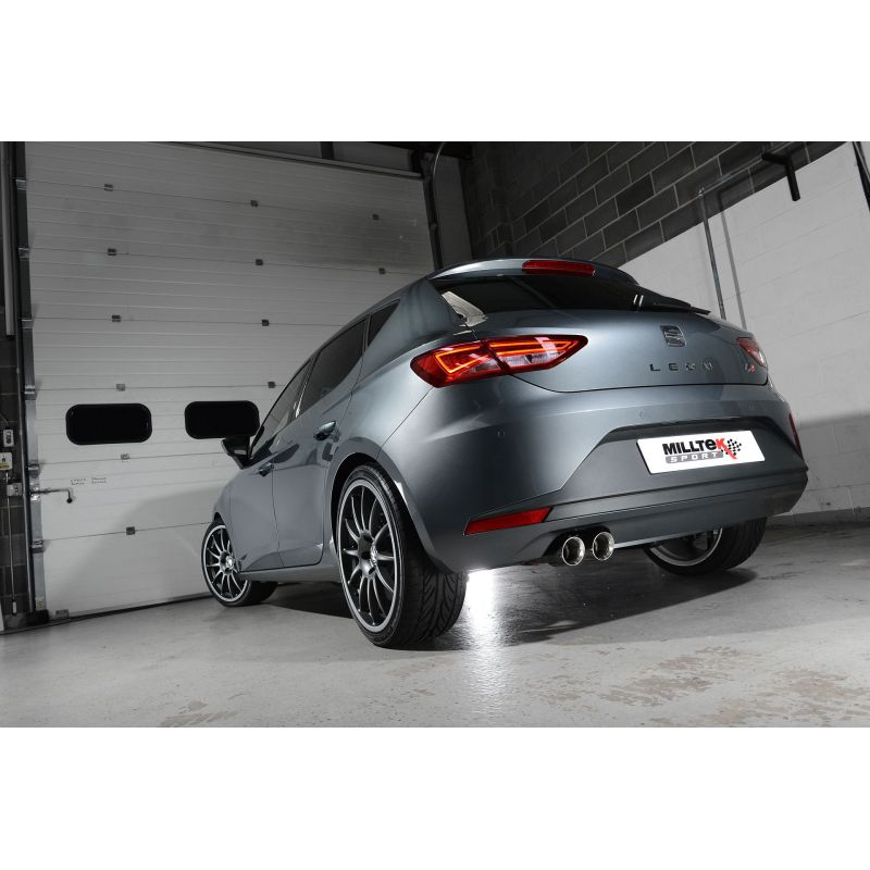 milltek sport seat leon fr 2 0 tdi 150 sc and 5 door manual and dsg auto cat back exhaust. Black Bedroom Furniture Sets. Home Design Ideas