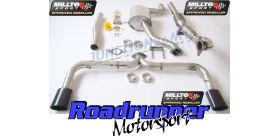 Milltek Sport - Volkswagen SCIROCCO R Turbo-back Exhaust including Hi-Flow Sports Cat SSXVW144
