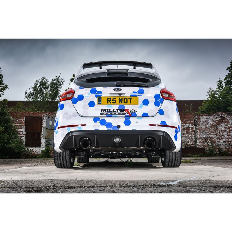 milltek focus rs mk3 cat back exhaust system non resonated. Black Bedroom Furniture Sets. Home Design Ideas