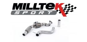 Milltek Sport - Ford Mustang 2.3 Ecoboost 2015 on Large Bore Downpipe and Hi Flow Sports Cat - Fits Milltek Only