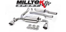 Milltek Sport - Ford Focus RS MK3 2.3 Ecoboost 4wd 5 Door 2016 on Cat Back Exhaust System Resonated SSXFD188