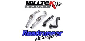 Milltek Sport - Audi RS6 C7 4.0 TFSi BiTurbo Quattro 2013 on Large Bore Downpipes and Hi Flow Sports Cats SSXAU554