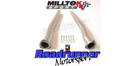 Milltek Sport - Audi RS3 SPORTBACK (8V MQB - Pre Facelift Only) Secondary Catalyst Bypass Pipes SSXAU588