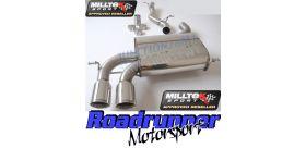 Milltek Sport - Audi S3 2.0 T QUATTRO 3-DOOR 8P Cat-back Exhaust SSXAU123