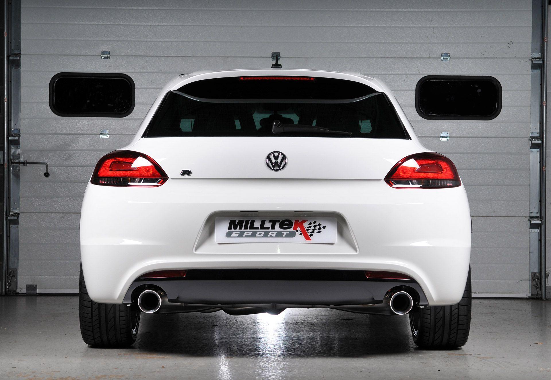 Milltek Sport Volkswagen Scirocco R Turbo Back Exhaust Including Hi Flow Sports Cat Ssxvw186 Milltek Roadrunner Motorsport