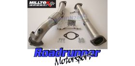 Milltek Sport - Ford FOCUS MK2 RS 2.5T 305PS Large-bore Downpipe and De-cat SSXFD086
