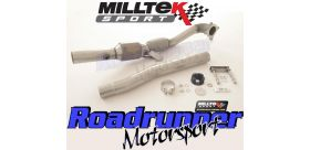 Milltek Sport - Seat LEON CUPRA R 2.0 TSI 265PS Large Bore Downpipe and Hi-Flow Sports Cat SSXSE154